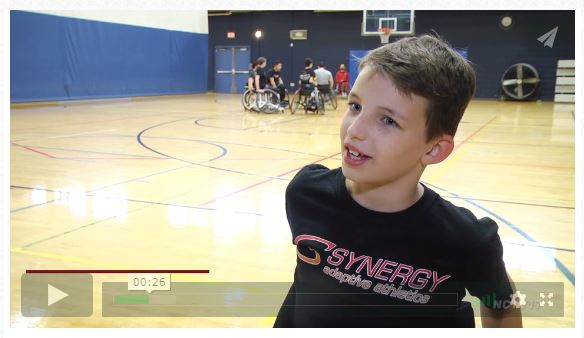 wheelchair basketball interview with Drew graphic
