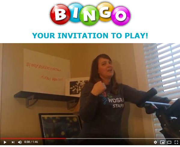 Video invitation to play Virtual Bingo