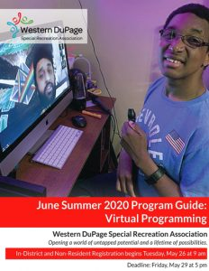 Summer Virtual Session 1 brochure cover